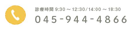診療時間 9:30~12:30/14:00~18:30 TEL:045-944-4866